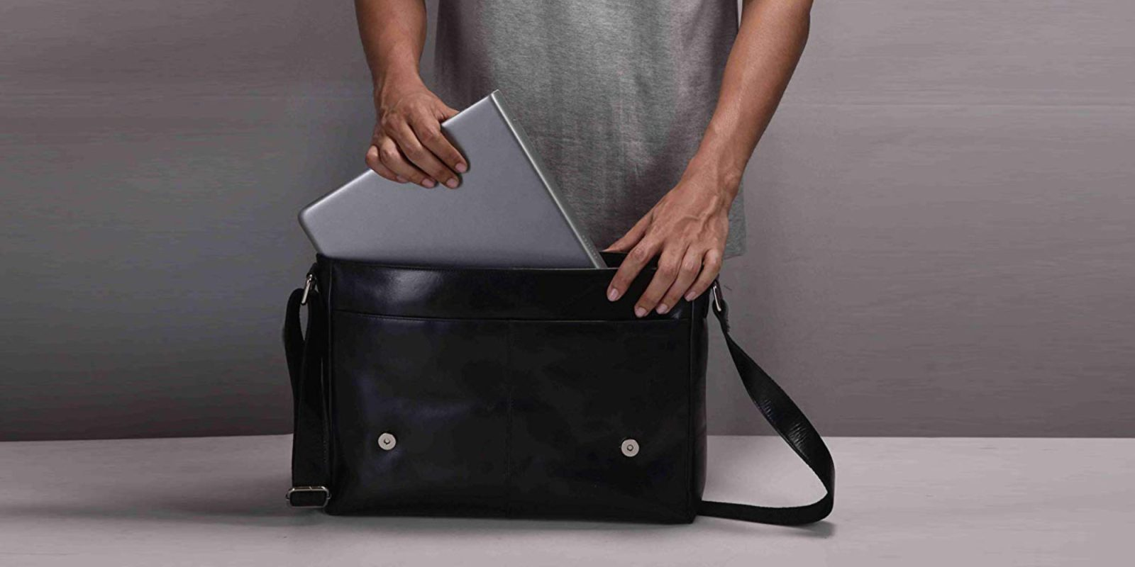 This MacBook-ready leather messenger bag is just $23 (Reg. $50+), more