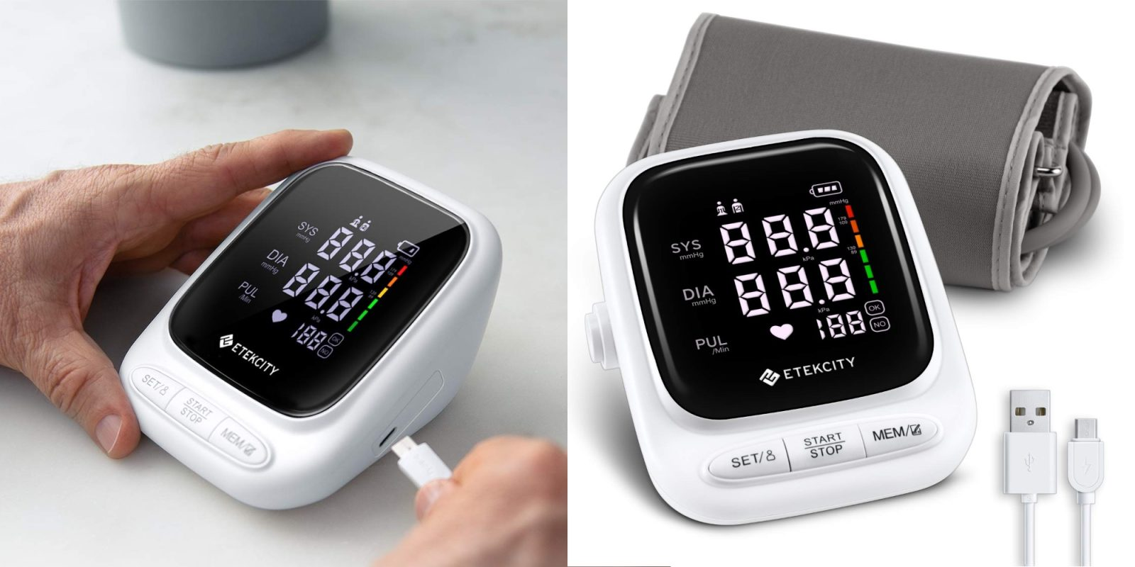 Track blood pressure readings with Etekcity's $26 Upper Arm Monitor (Save 30%)