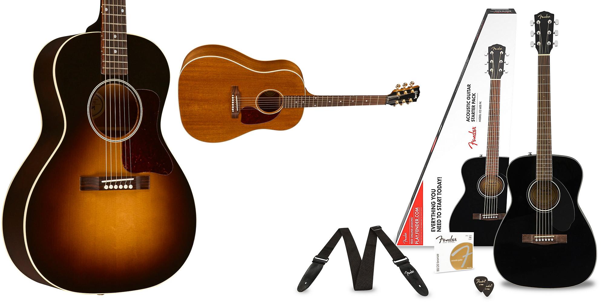 guitar sale up to 290 off fender bundle gibson j 45 more from 120 9to5toys. Black Bedroom Furniture Sets. Home Design Ideas