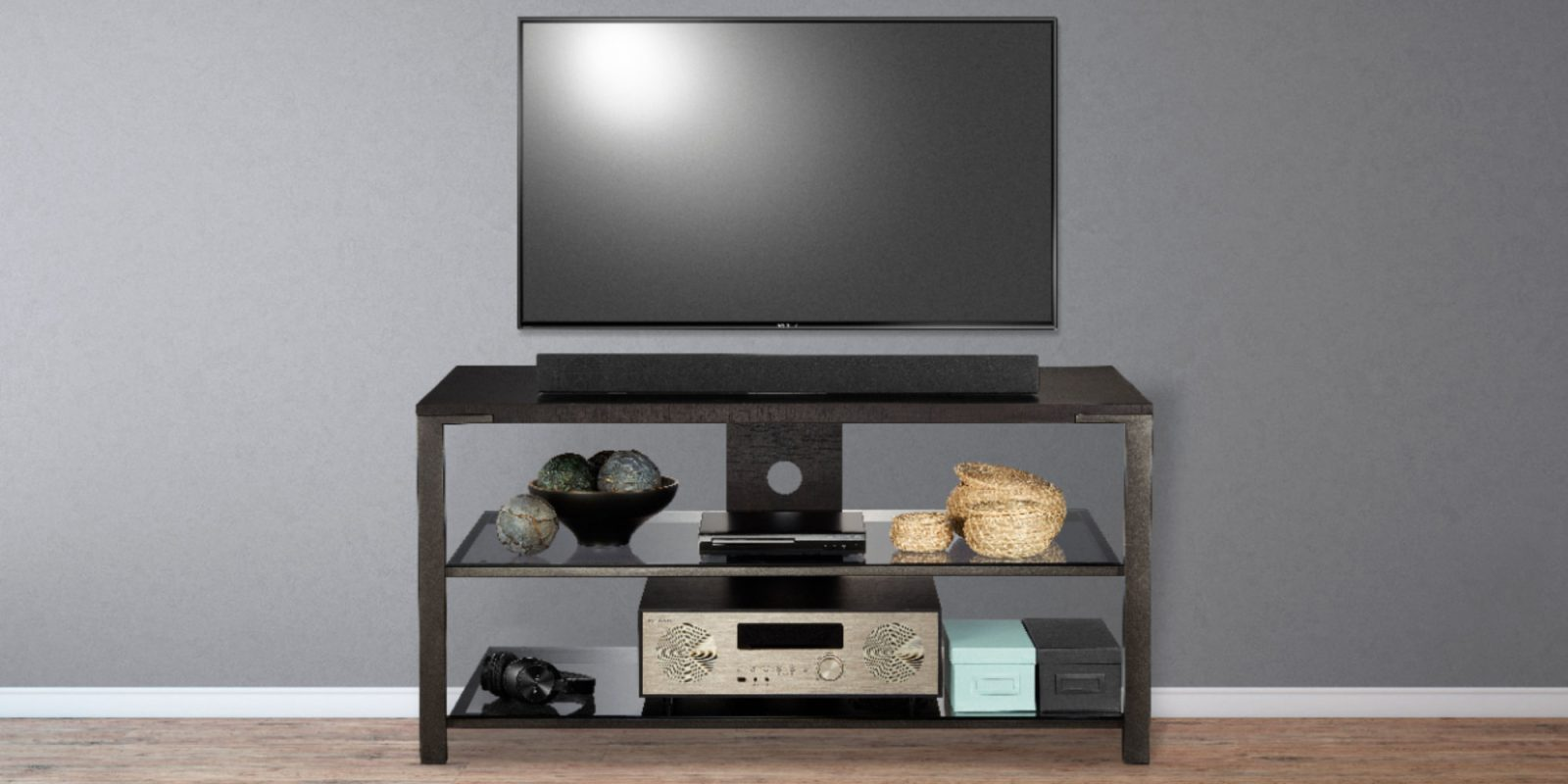 Clean up the living room with Insignia's $59 TV Stand (Reg. $100)