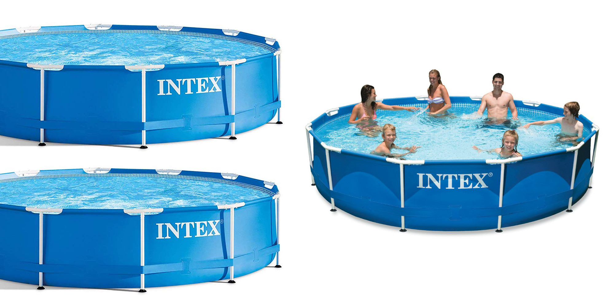 Stay cool in this 12 foot intex above ground swimming pool - Cool above ground pools ...