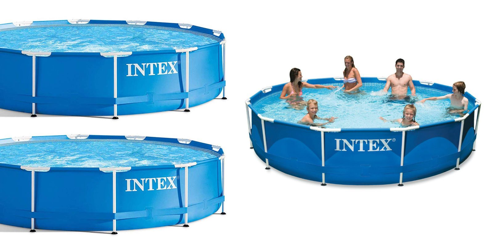 pretty nice 5a1ae 7e2b6 Stay cool in this 12-foot Intex Above Ground Swimming Pool for $74 ...