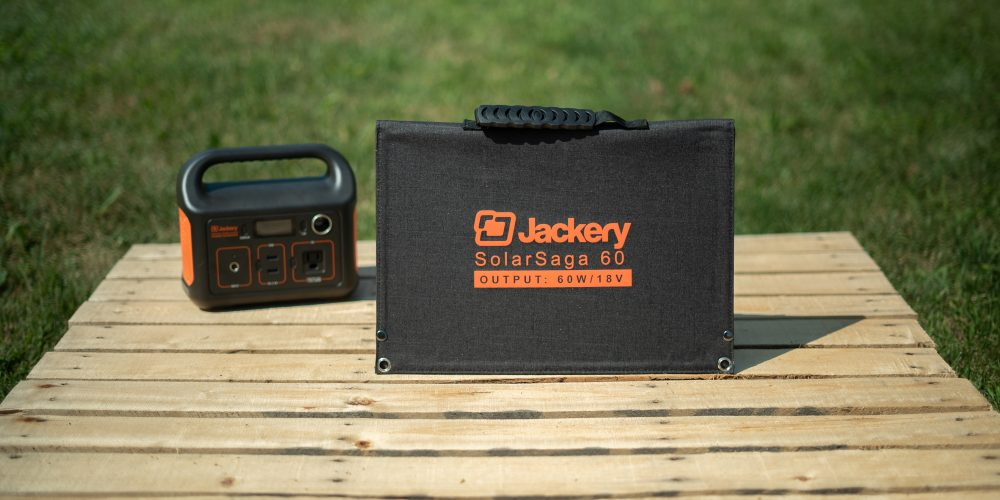 Jackery SolarSaga 60W panel folded up