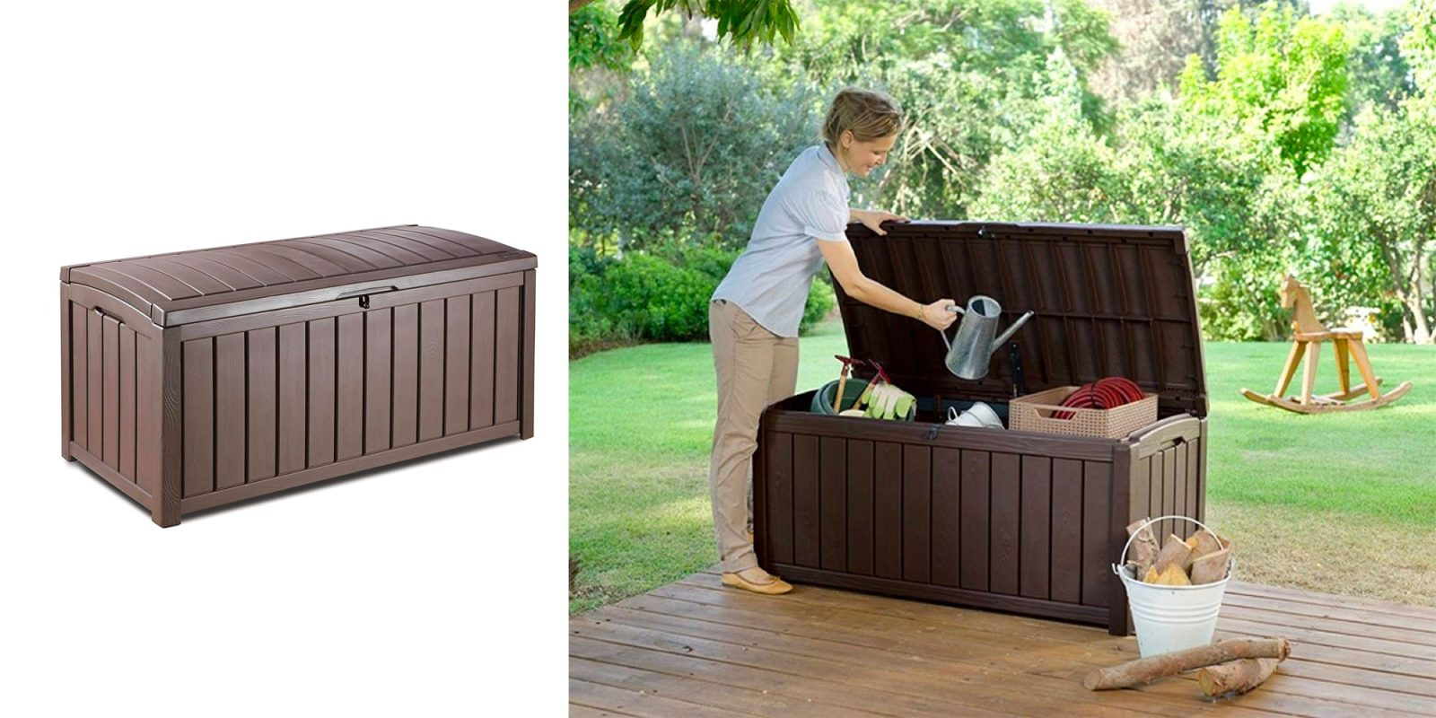 Keter's deck storage container is back at its 2-year low: $70 (Reg. $90)