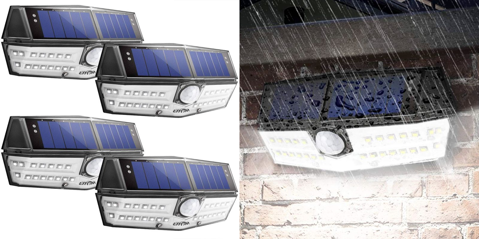 Illuminate up to 860 sq. ft. of yard w/ 4 LED solar lights at $28.50 (35% off)