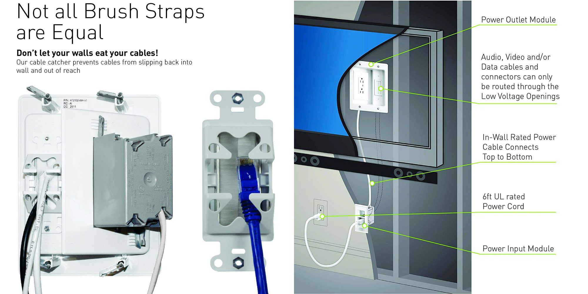 legrand on-q home theater cable management kit installed