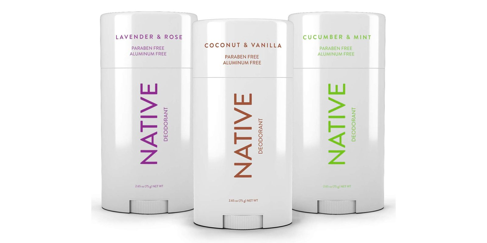 Get three sticks of Native natural aluminum-free deodorant from $24 (33% off)