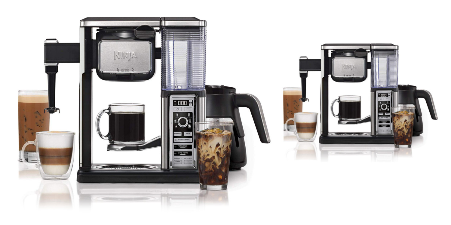 Ninja Glass Coffee Bar System + built-in milk frother now $100 off (Refurb)