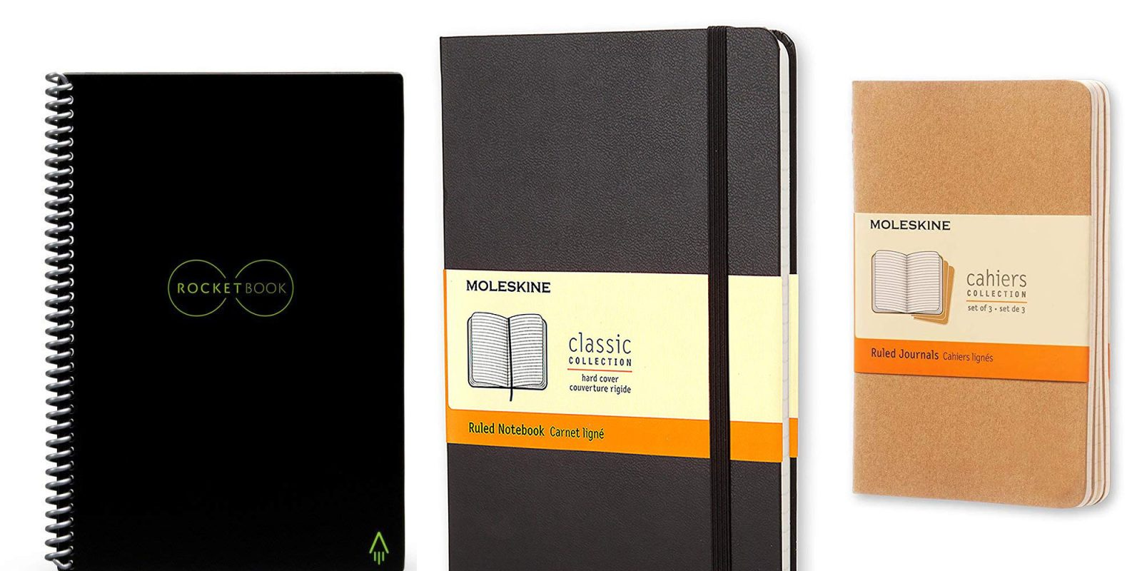 Moleskine/Rocketbook notebooks up to 50% off: Smart, reusable, more from $10