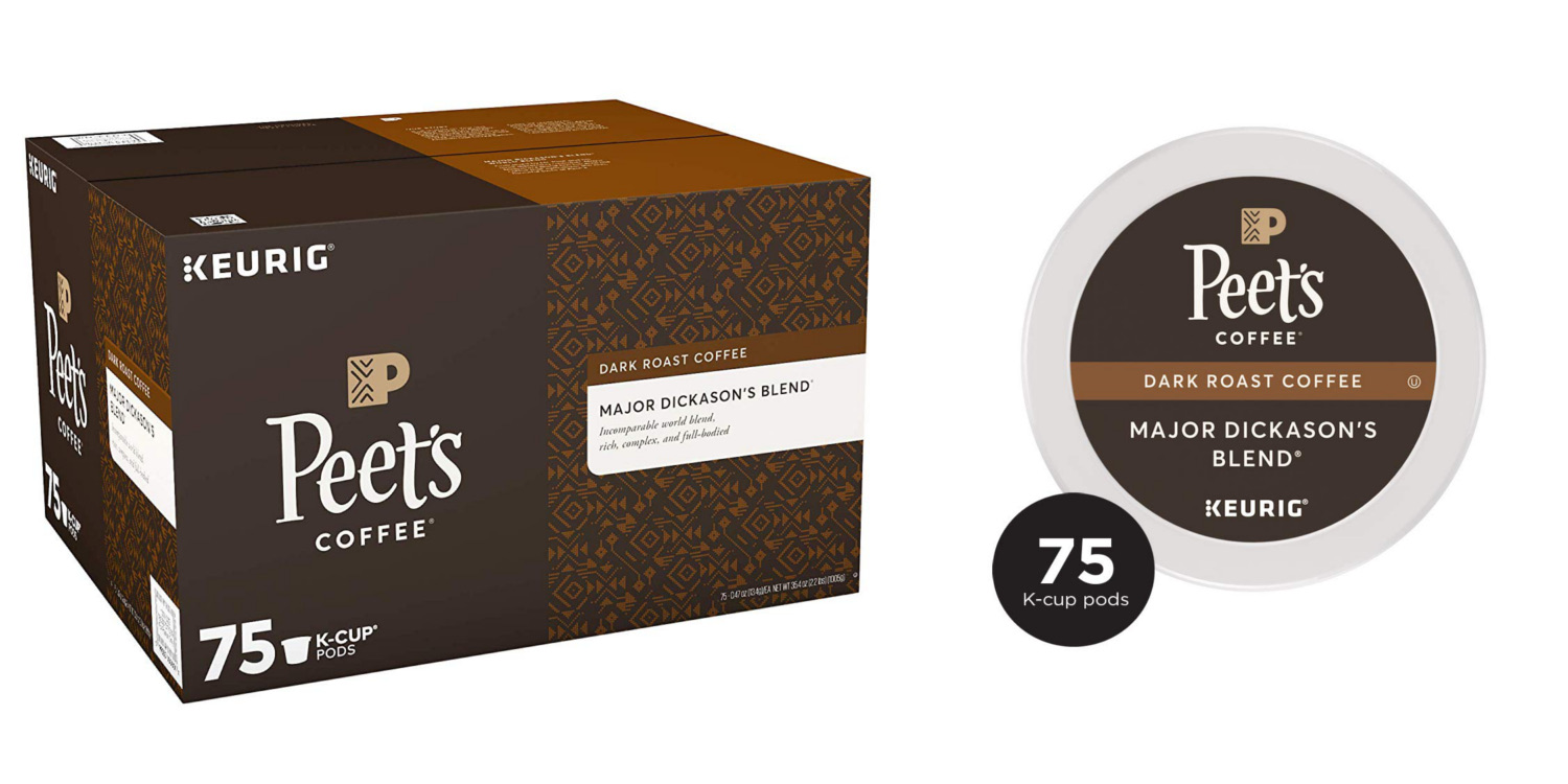 Peet's Major Dickason's K-Cups at Amazon: 75-pack for $28 (nearly 25% off)
