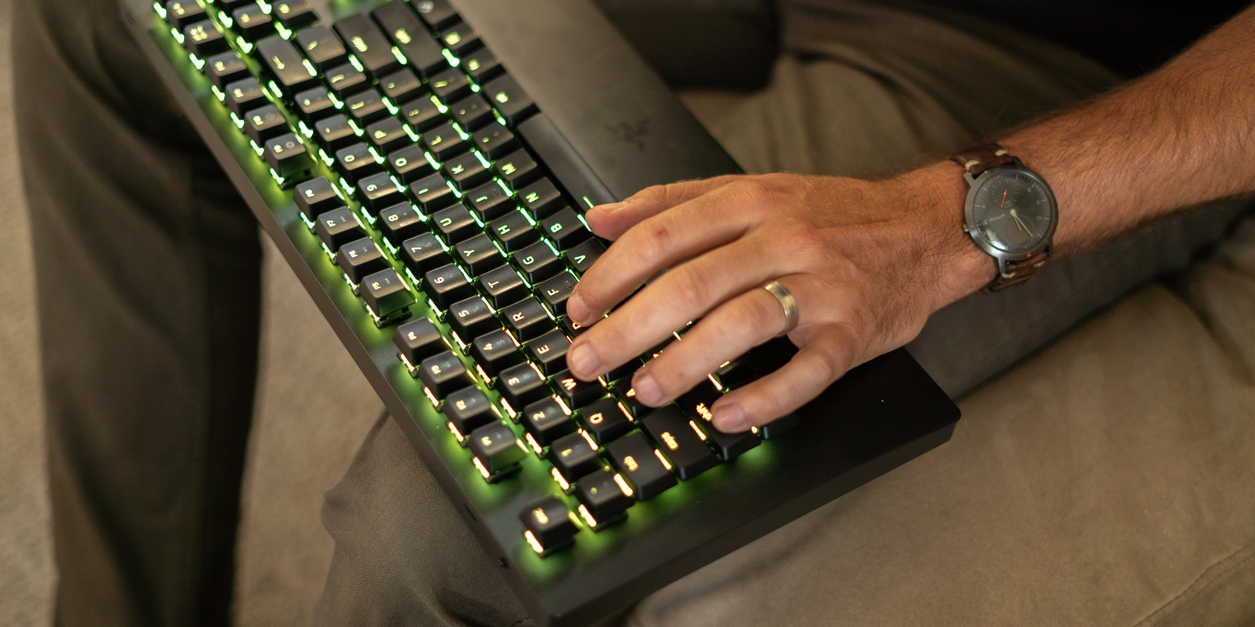 Using the Razer Turret Keyboard on the couch