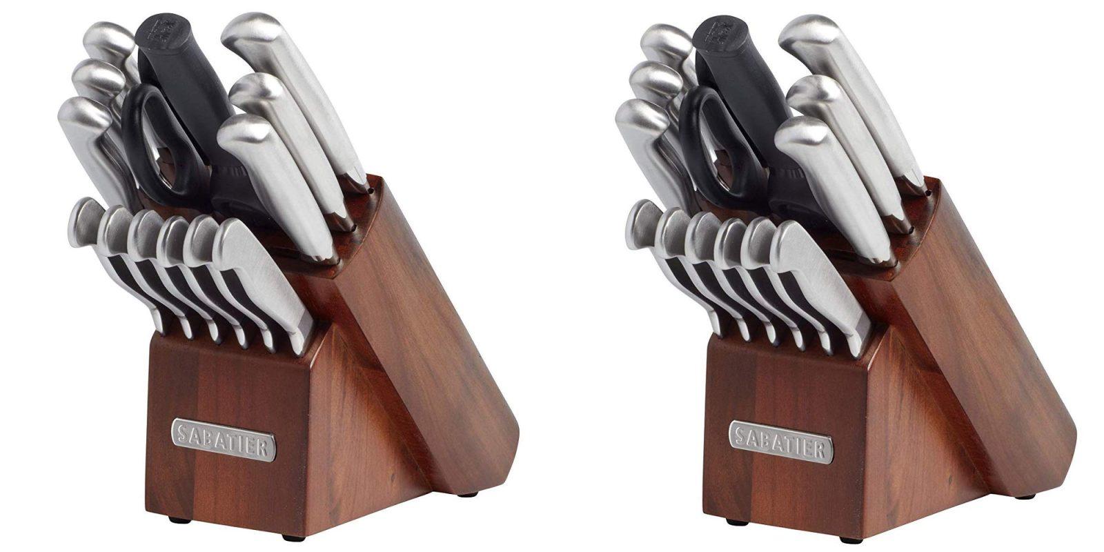 Sabatier's 15-Piece Steel Acacia Wood Knife Block Set for $46 (Reg. up to $89)