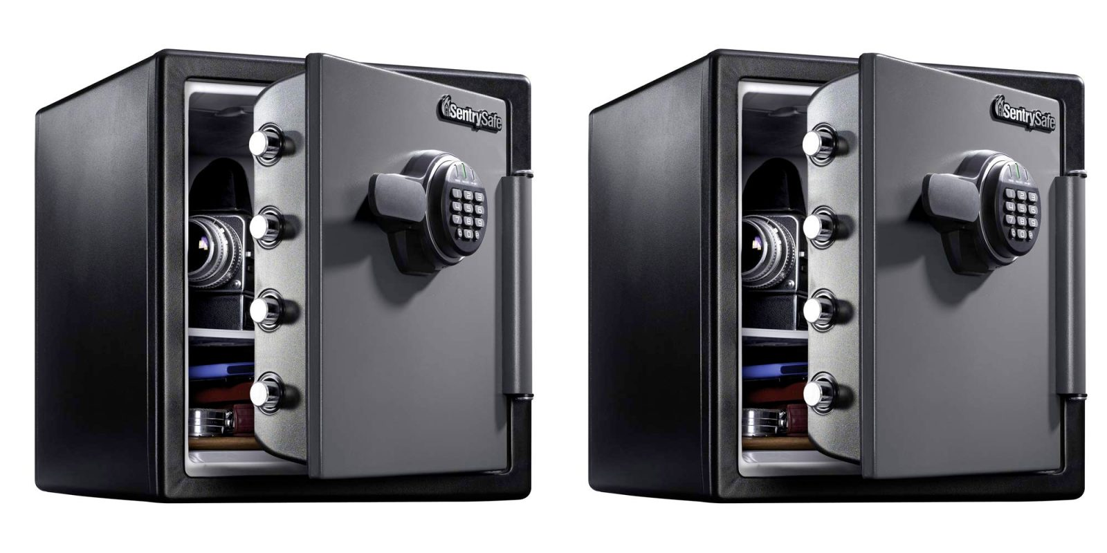 SentrySafe's 1 23-Cu  Ft  safe is water + fire resistant for $120