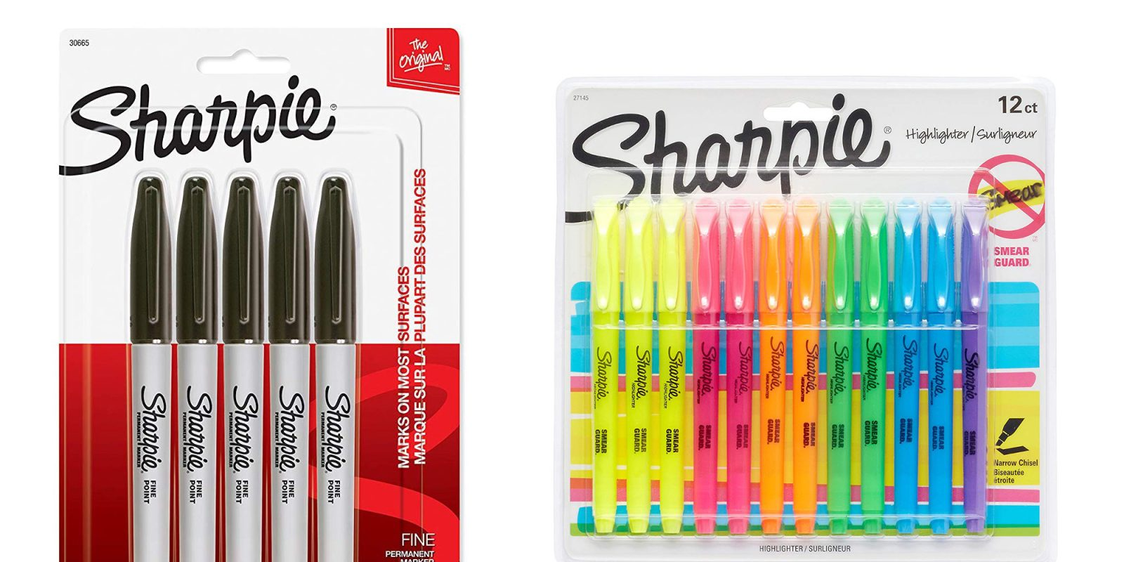Office/School supplies from $1: Sharpies, Crayola pens, scissors, more