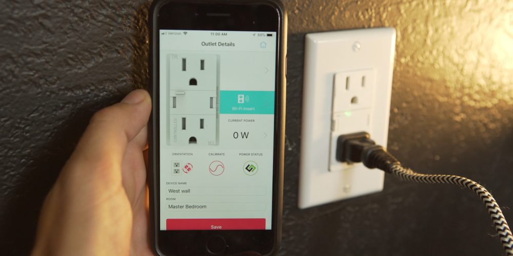 Using the Swidget app to control the outlet