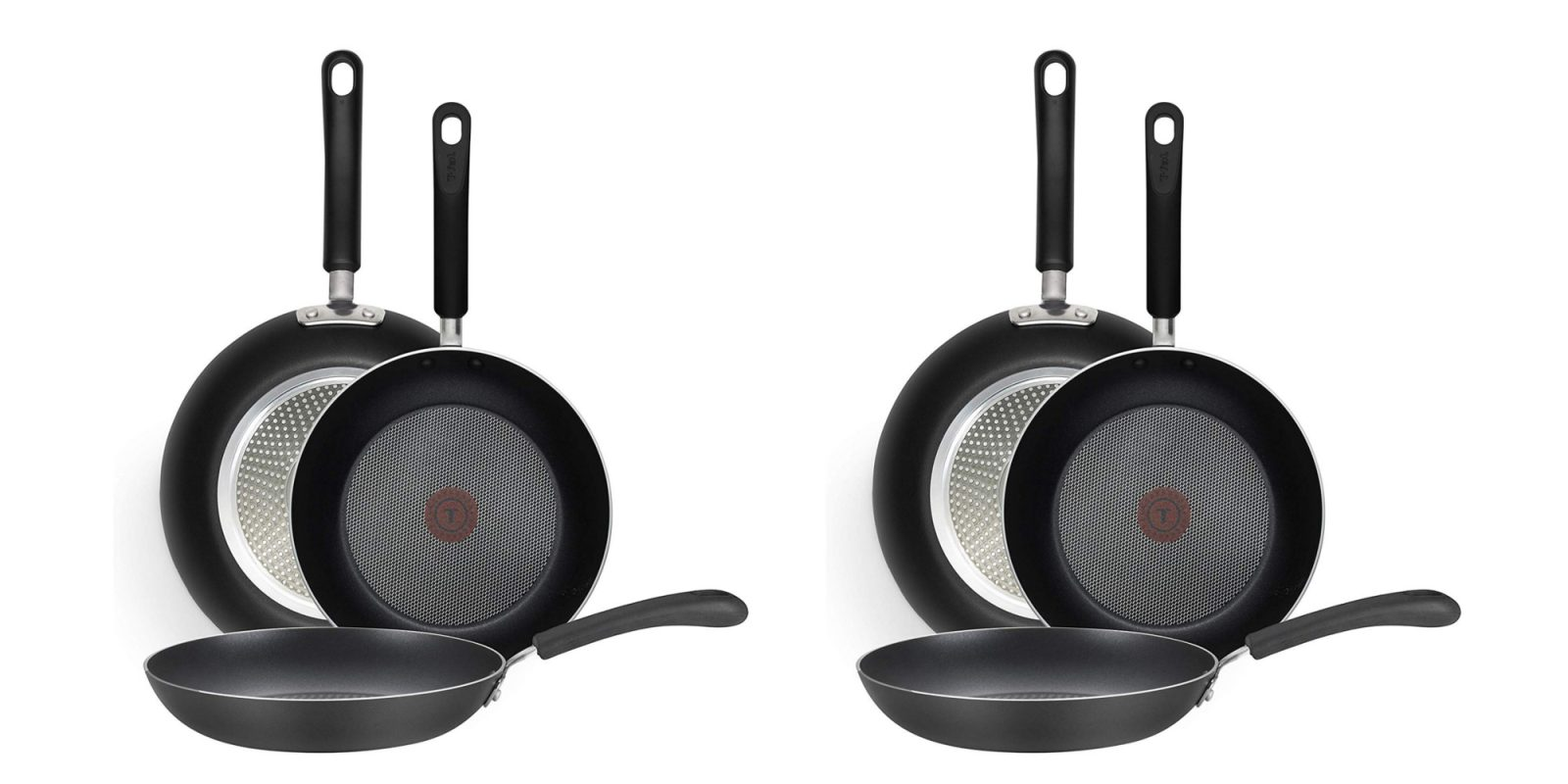 T-fal's Nonstick Fry Pan Cookware Set matching the Amazon low at $50 (30% off)
