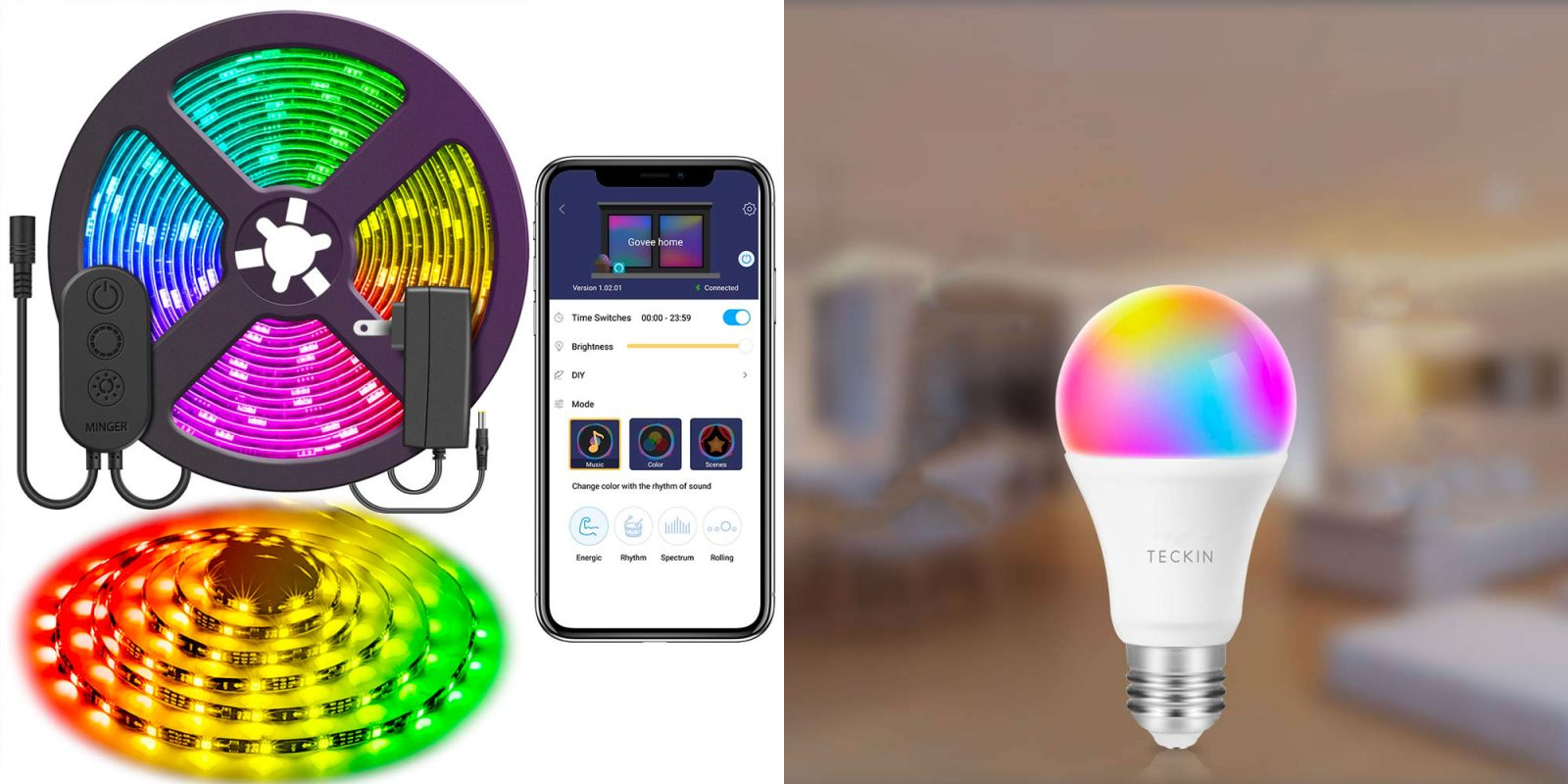 Upgrade your smart home with voice-controlled RGB lighting
