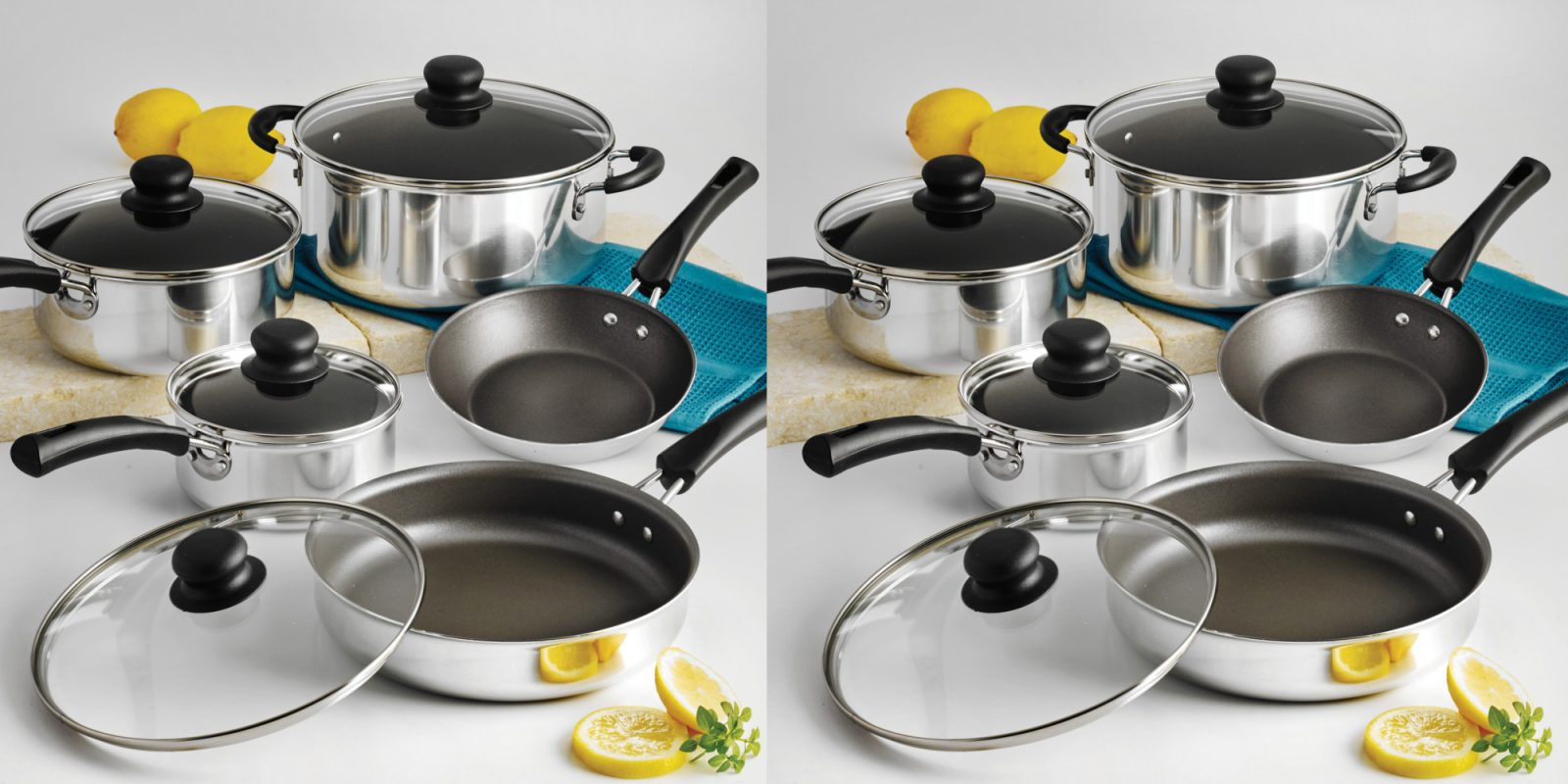 This 9-piece Tramontina Non-Stick Cookware Set is now just $15 (25% off)