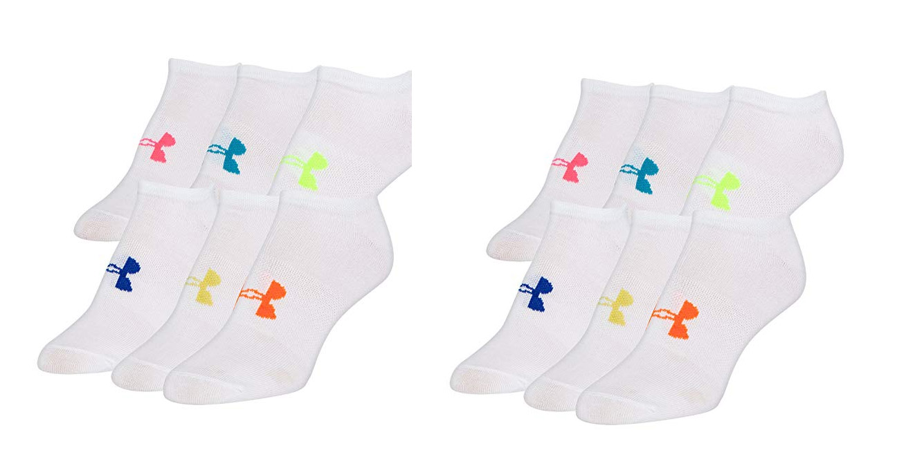 Under Armour 6-Pack No-Liner Socks for $10 Prime shipped at Amazon