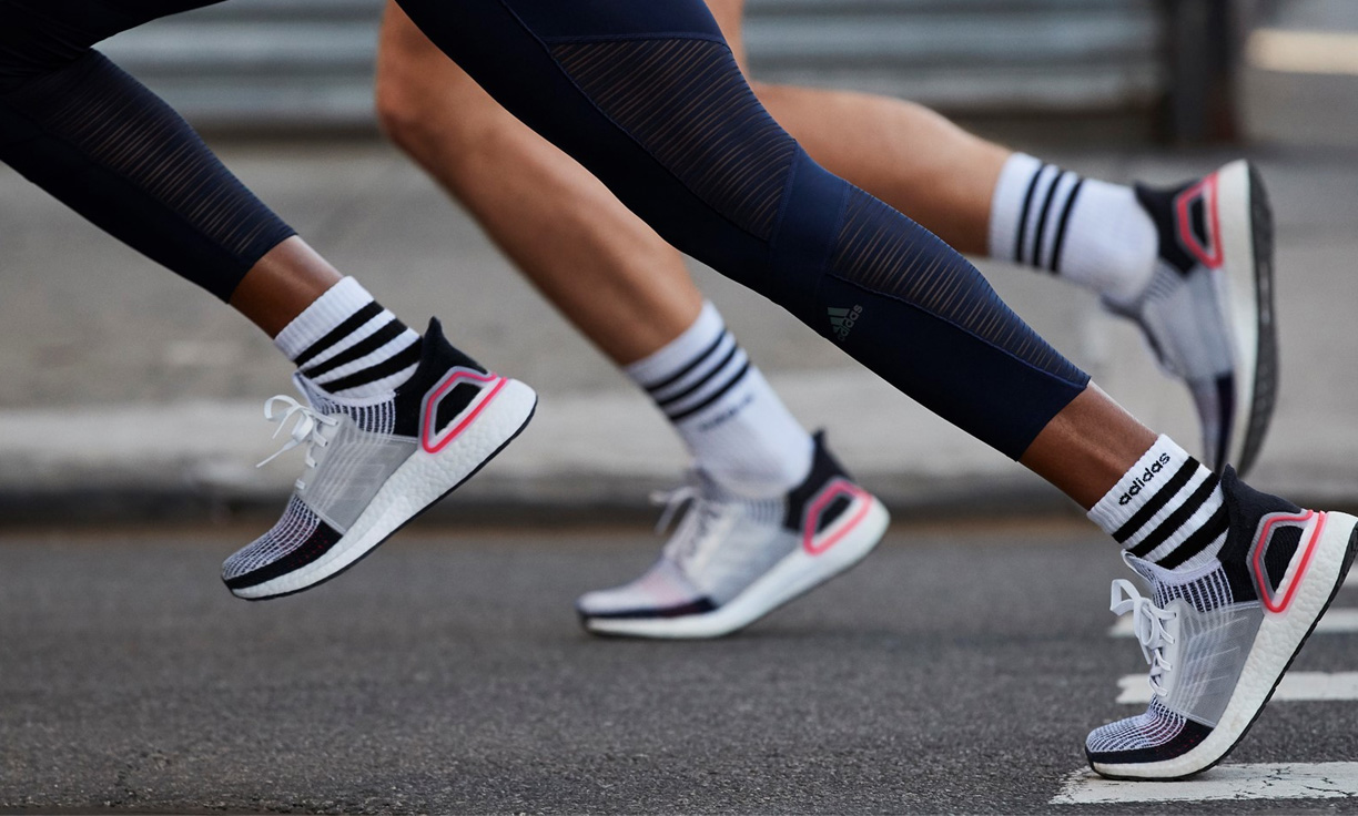 nike and adidas running shoes