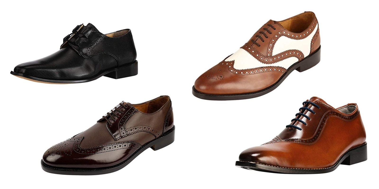 Fill out your wardrobe with 25% off men's leather dress shoes from $22.50