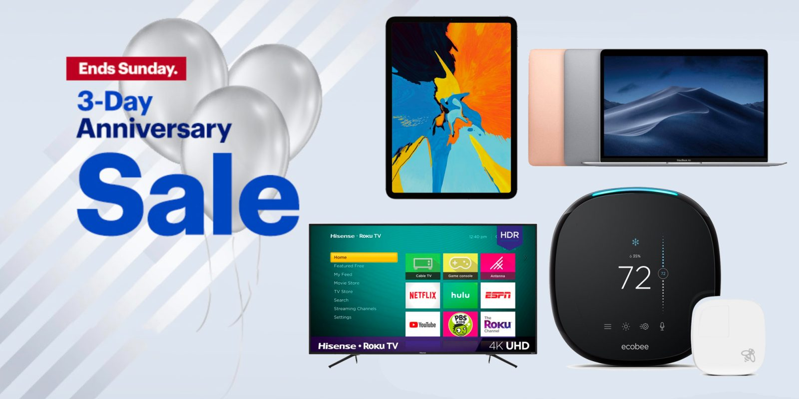 Best Buy anniversary sale is live! Take up to $400 off iPads, MacBooks, smart home gear, more