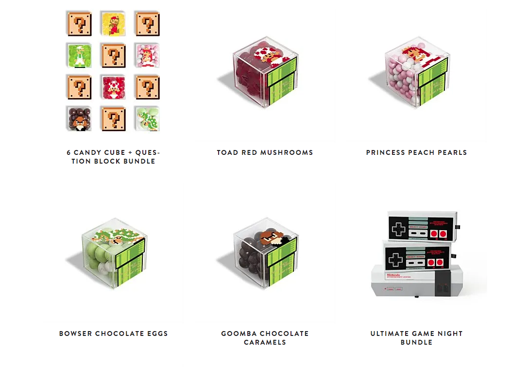 Collectible Nintendo boxes from Sugarfina