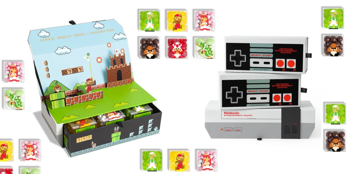 Collectible Nintendo boxes with candy