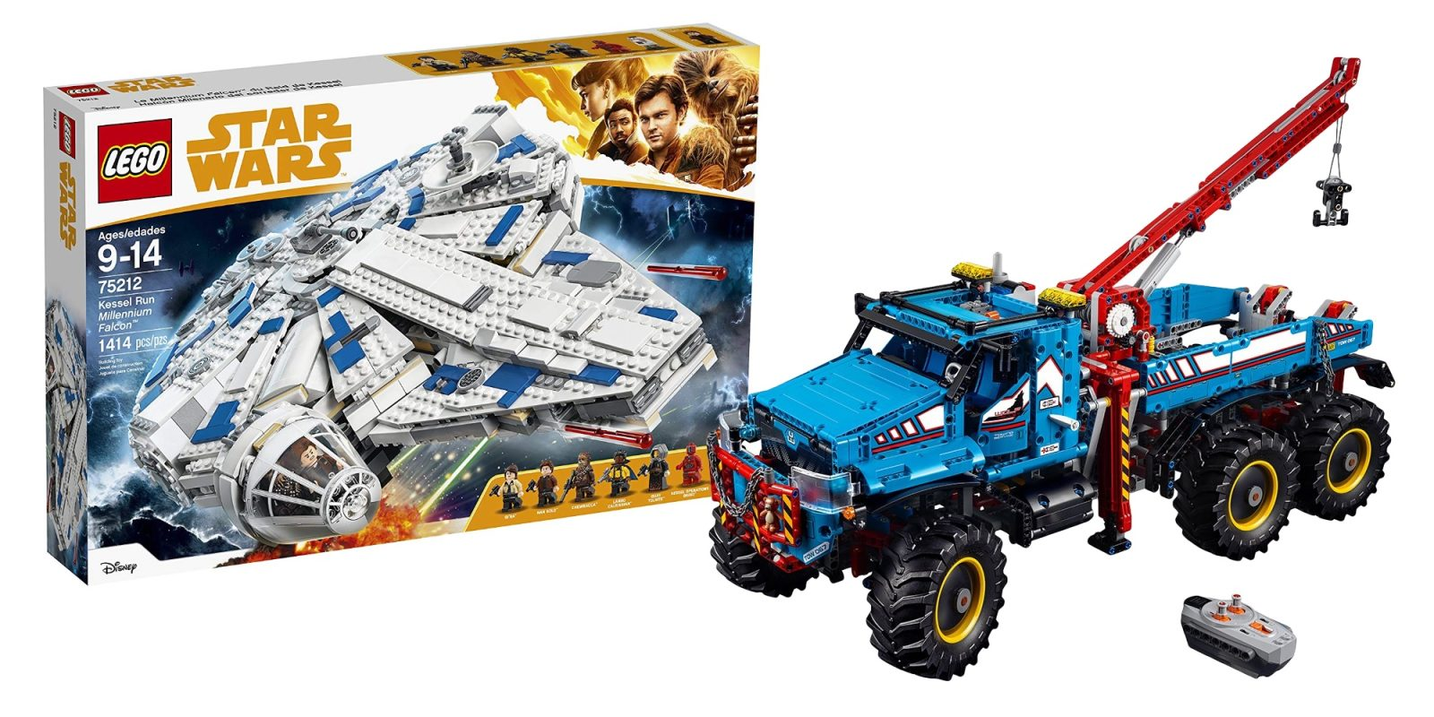 Save $85 on LEGO's Technic Tow Truck for $205 + Millennium Falcon $115, more