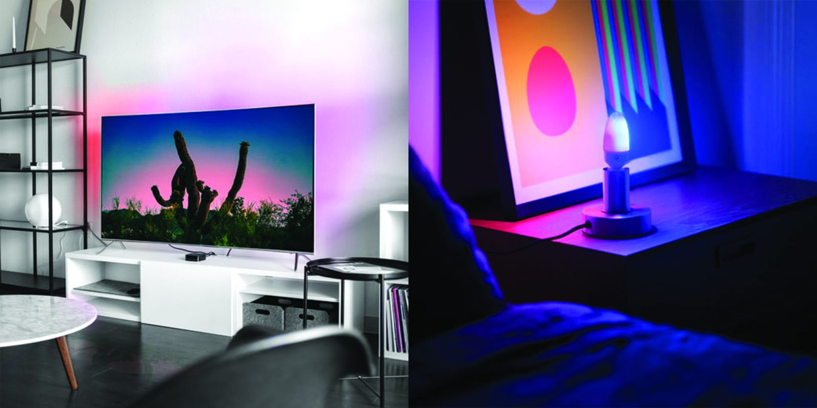 New Lifx Candle Color bulb + light strip shine multiple shades at once