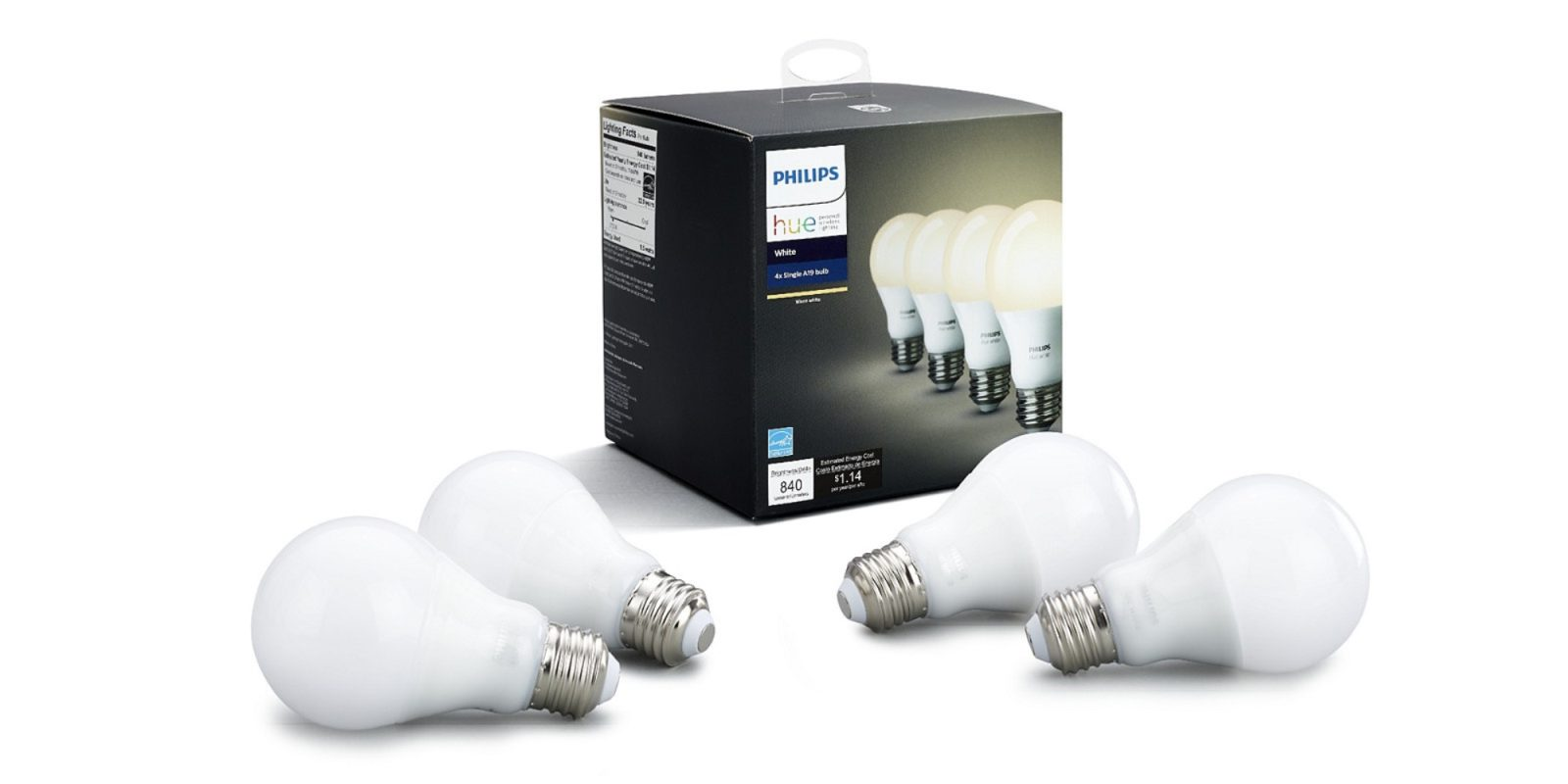Expand your Philips Hue setup with four dimmable white bulbs for just $10 each