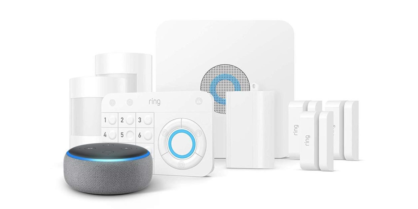 Bundle an 8-piece Ring Alarm Security System and Echo Dot at $189 ($269 value)