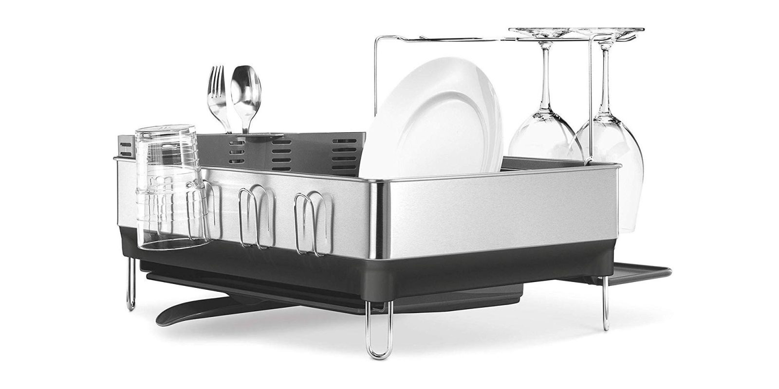 A touch of elegance for the countertop: simplehuman Dish Rack $64 (Reg. $80)