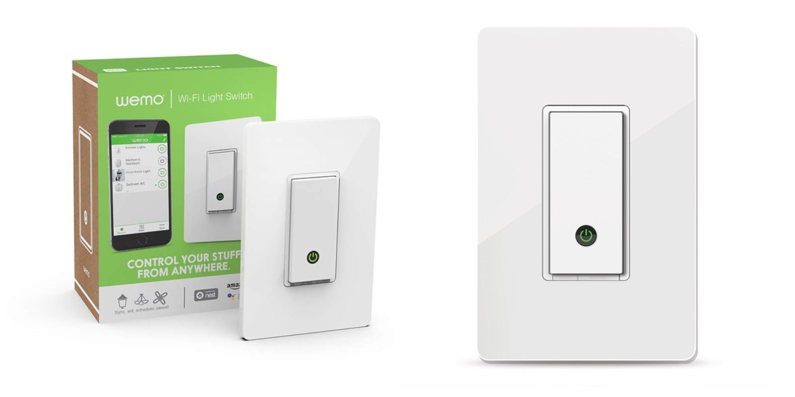 Alexa-enabled lighting arrives with two Wemo Light Switches for $64 (Reg. $82)