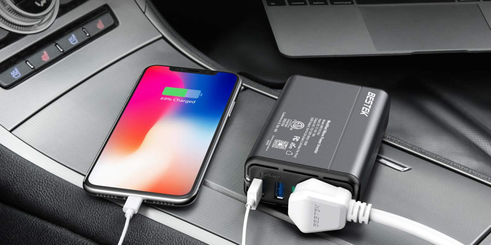 This inverter lets you charge a MacBook in the car: $12 at Amazon (Save 30%)