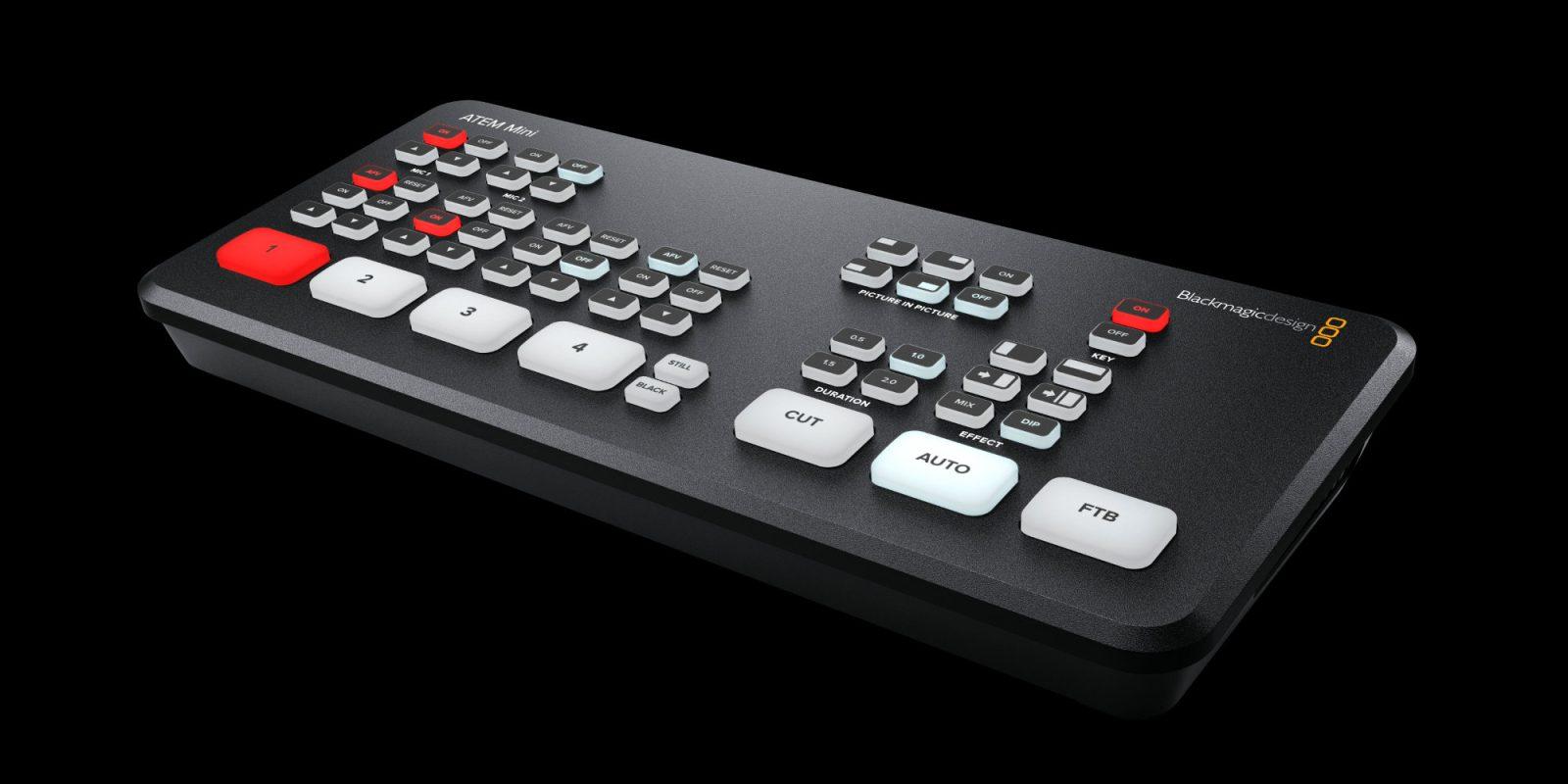 Blackmagic debuts ATEM Mini, a USB-C multi-camera switchboard for Mac and PC