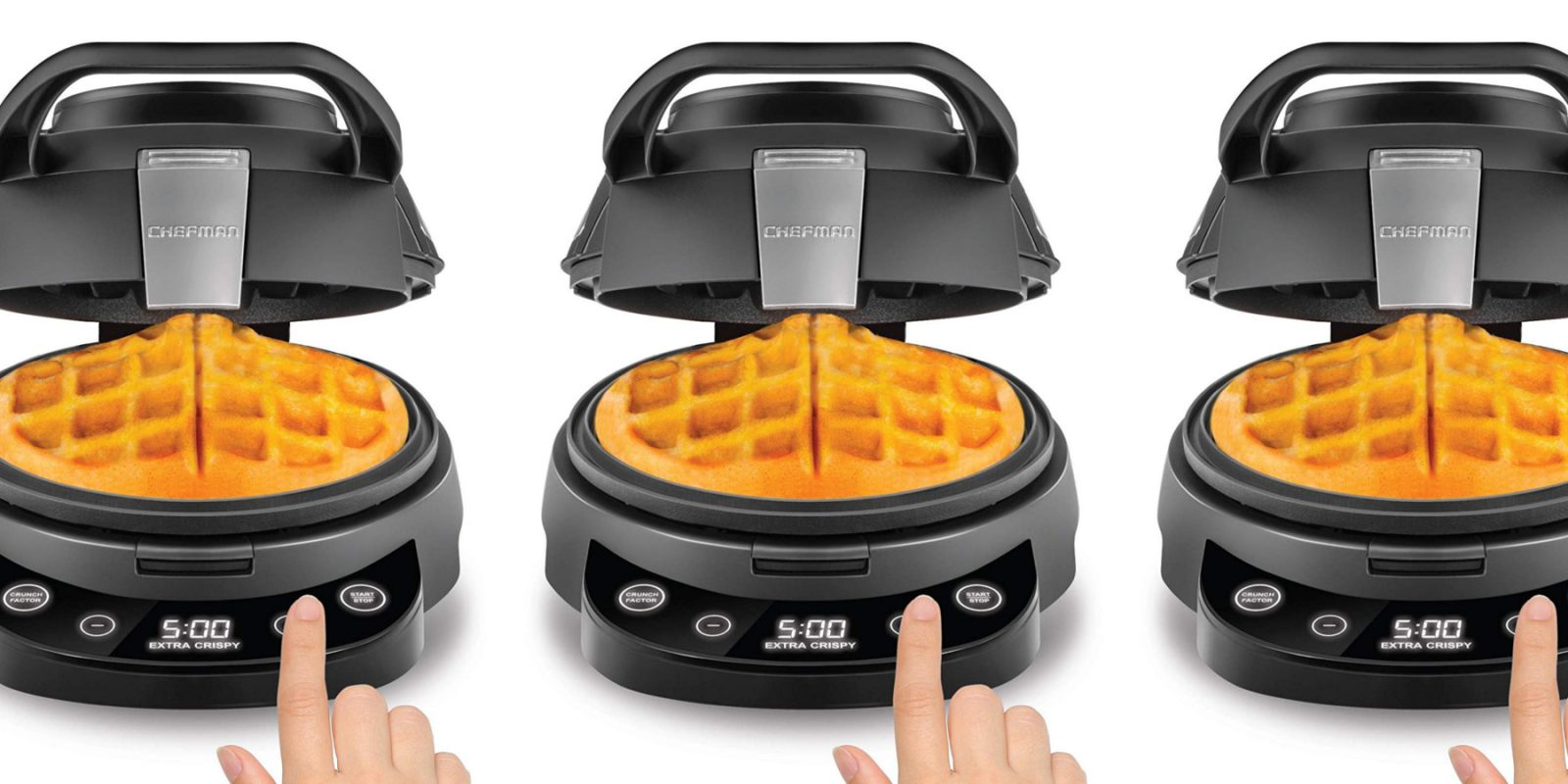 Chefman's Volcano Waffle Maker at one of its best prices: $20 (Reg. up to $50)