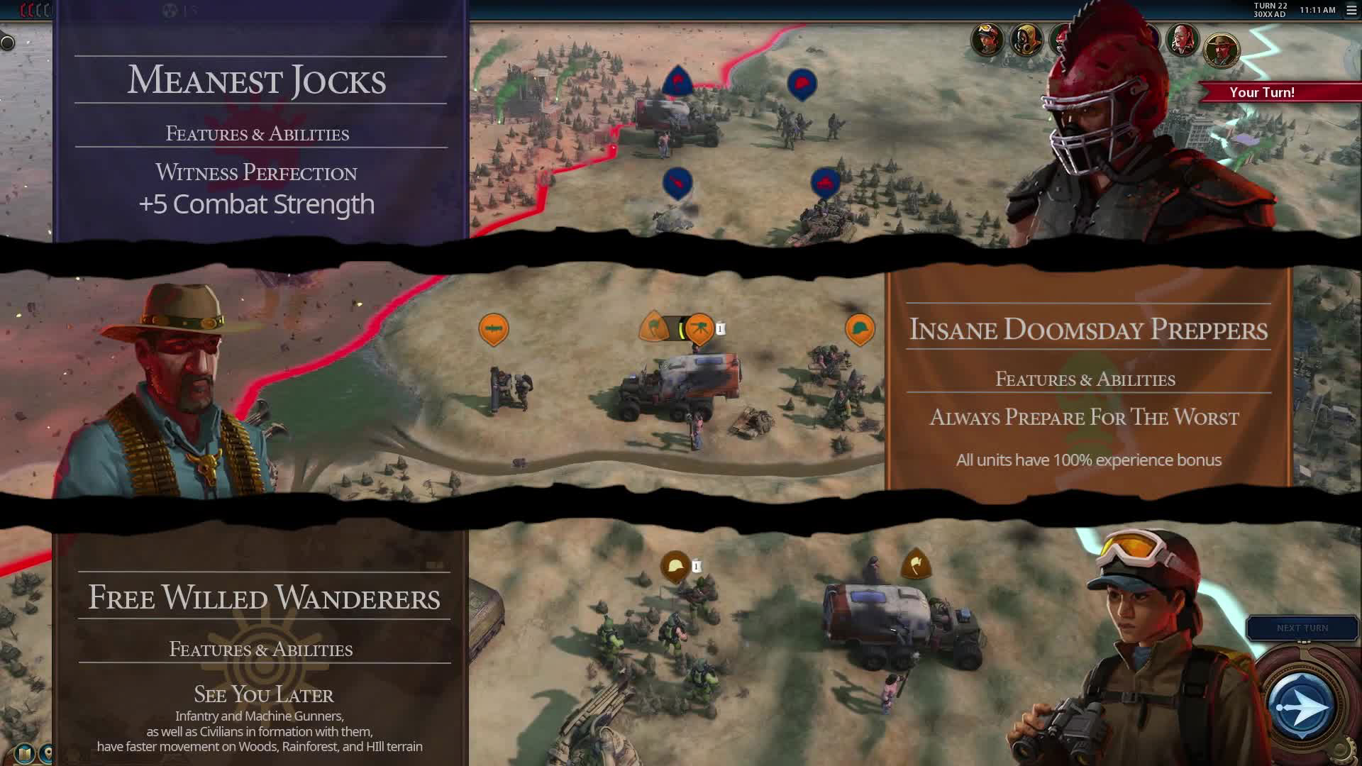 Civilization VI Red Death Factions