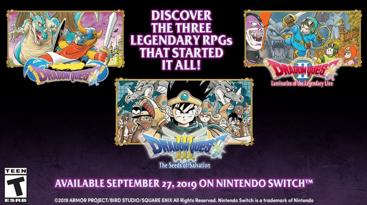 Classic Dragon Quest games for Switch