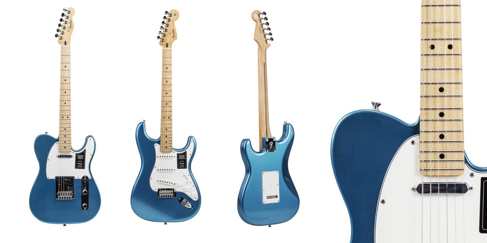 Lake Placid Blue Fender Strat or Tele Guitars for $549 (Up to $225 off)