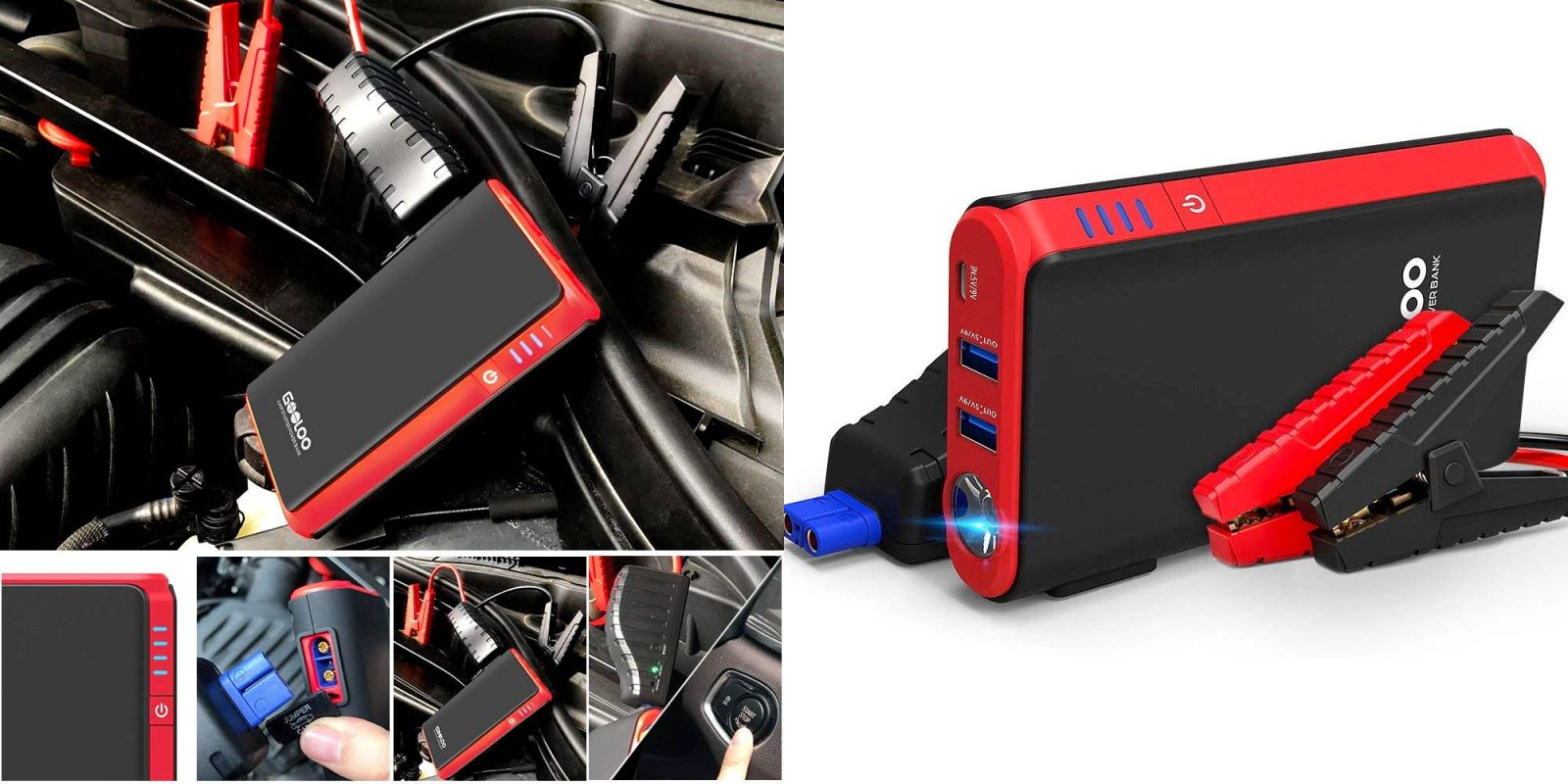 Never let a dead battery strand you, this 500A jump starter is $30 (Reg. $50)