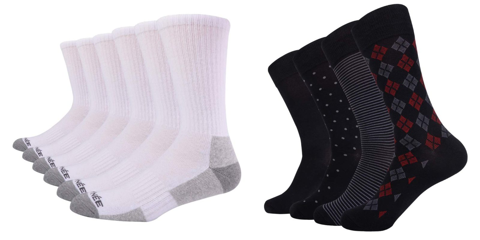 Get rid of those old socks, Amazon has various bundles from $8 today