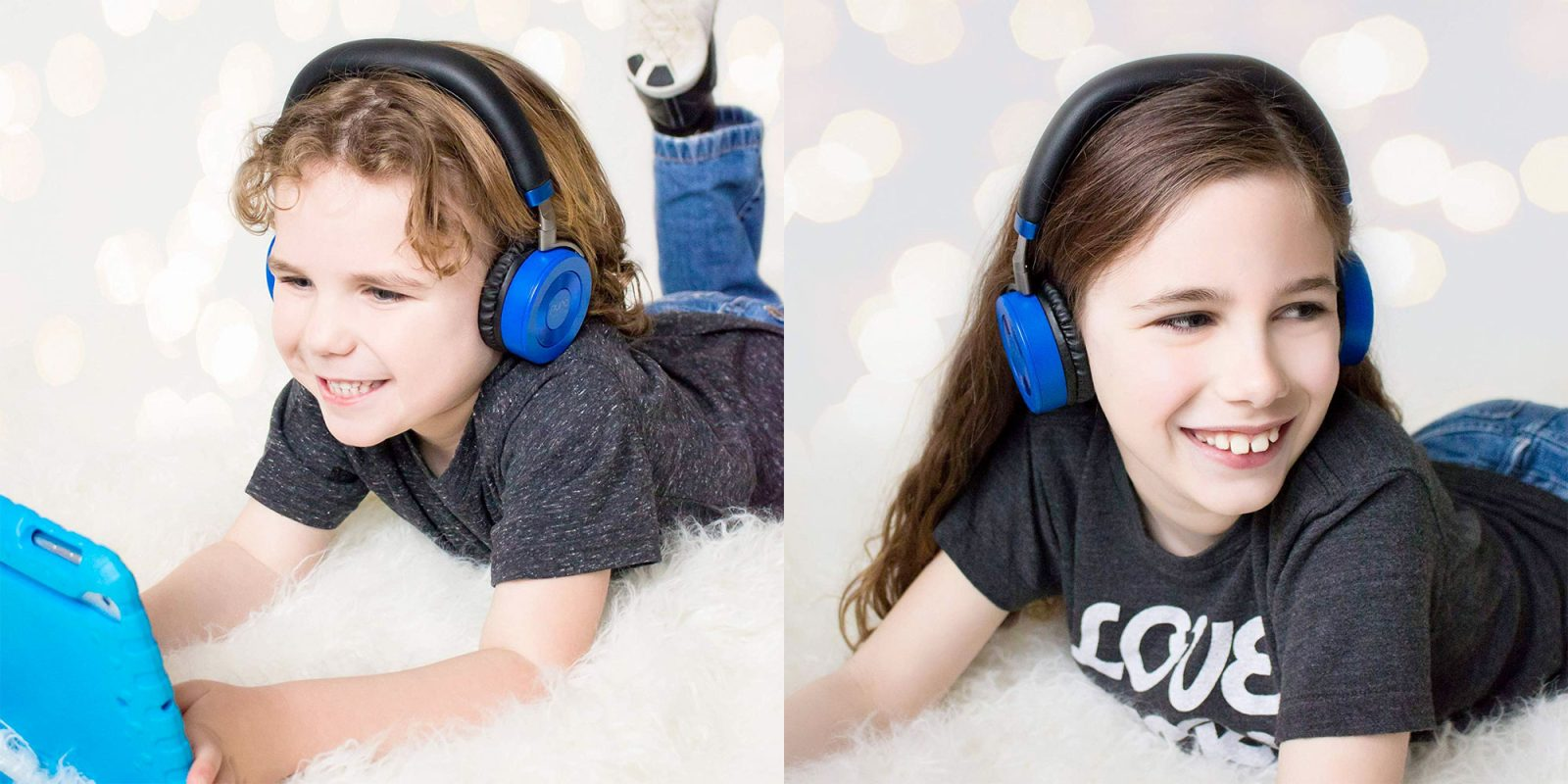JuniorJams are volume-limited Bluetooth headphones designed for kids