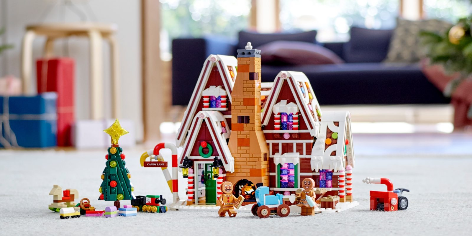 LEGO's latest Winter Village kit has you craft a 1,500-piece Gingerbread House
