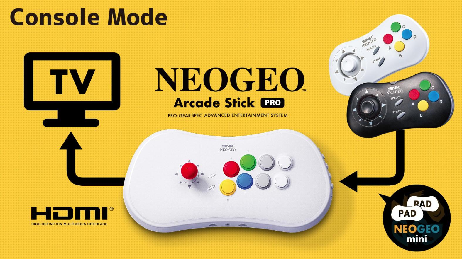 NEOGEO Arcade Stick Pro unveiled