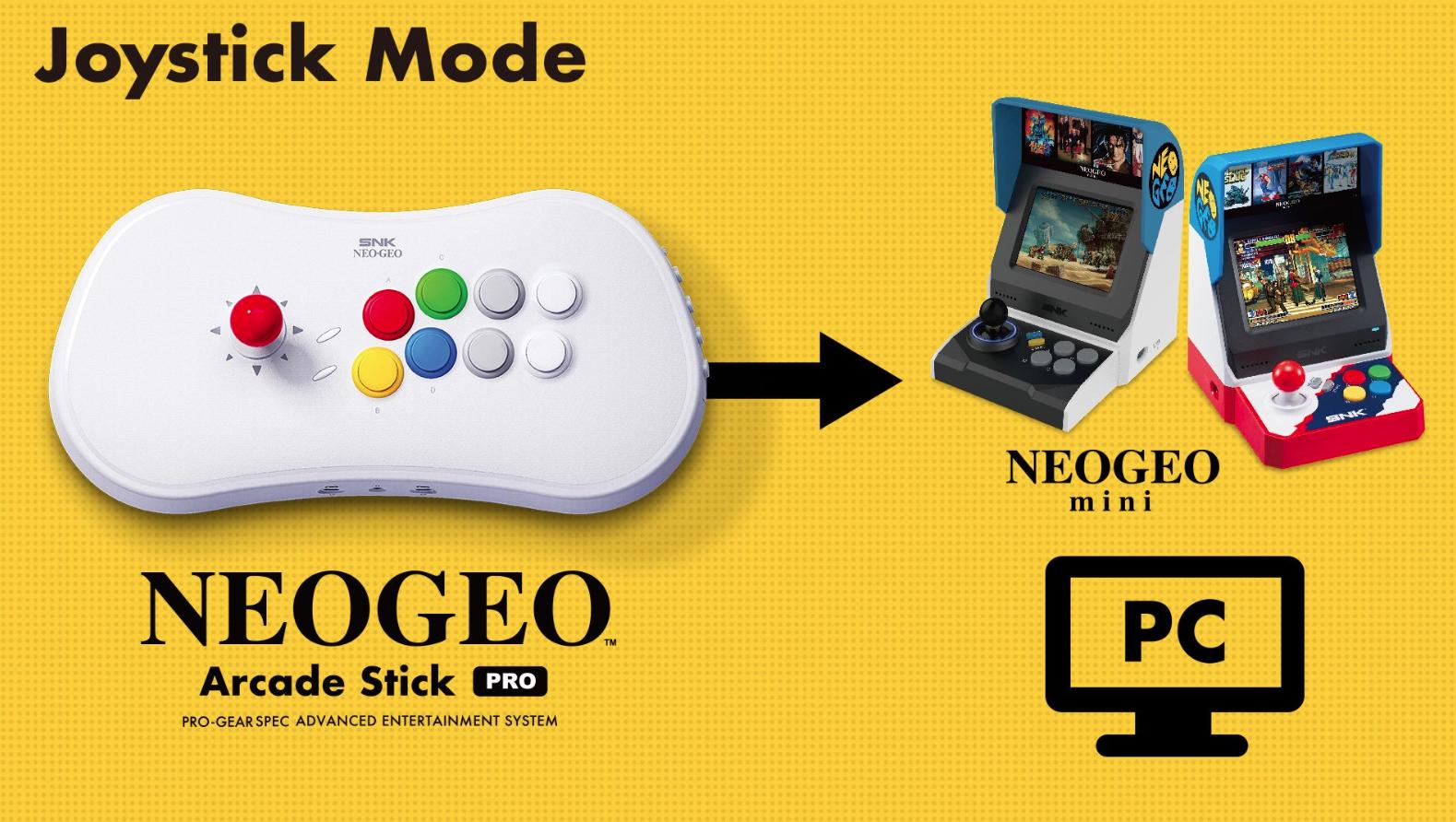 NEOGEO Arcade Stick Pro Joystick Mode