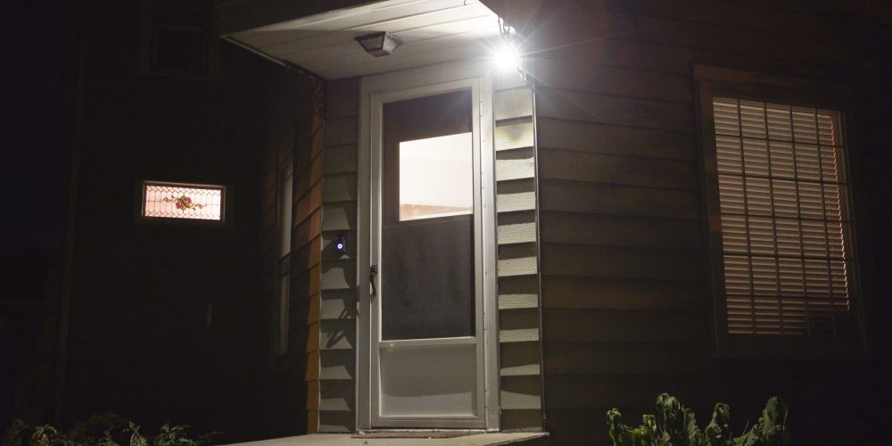 Ring Spotlight on front door