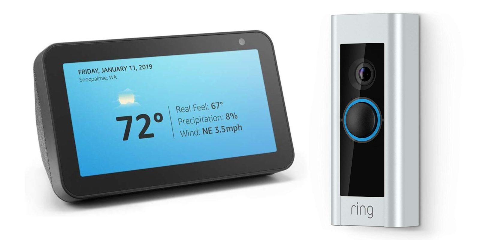 Bundle Ring Video Doorbell Pro with Echo Show 5 for $200 ($340 value)