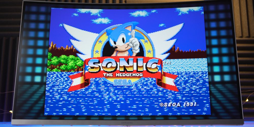 Starting screen of Sonic
