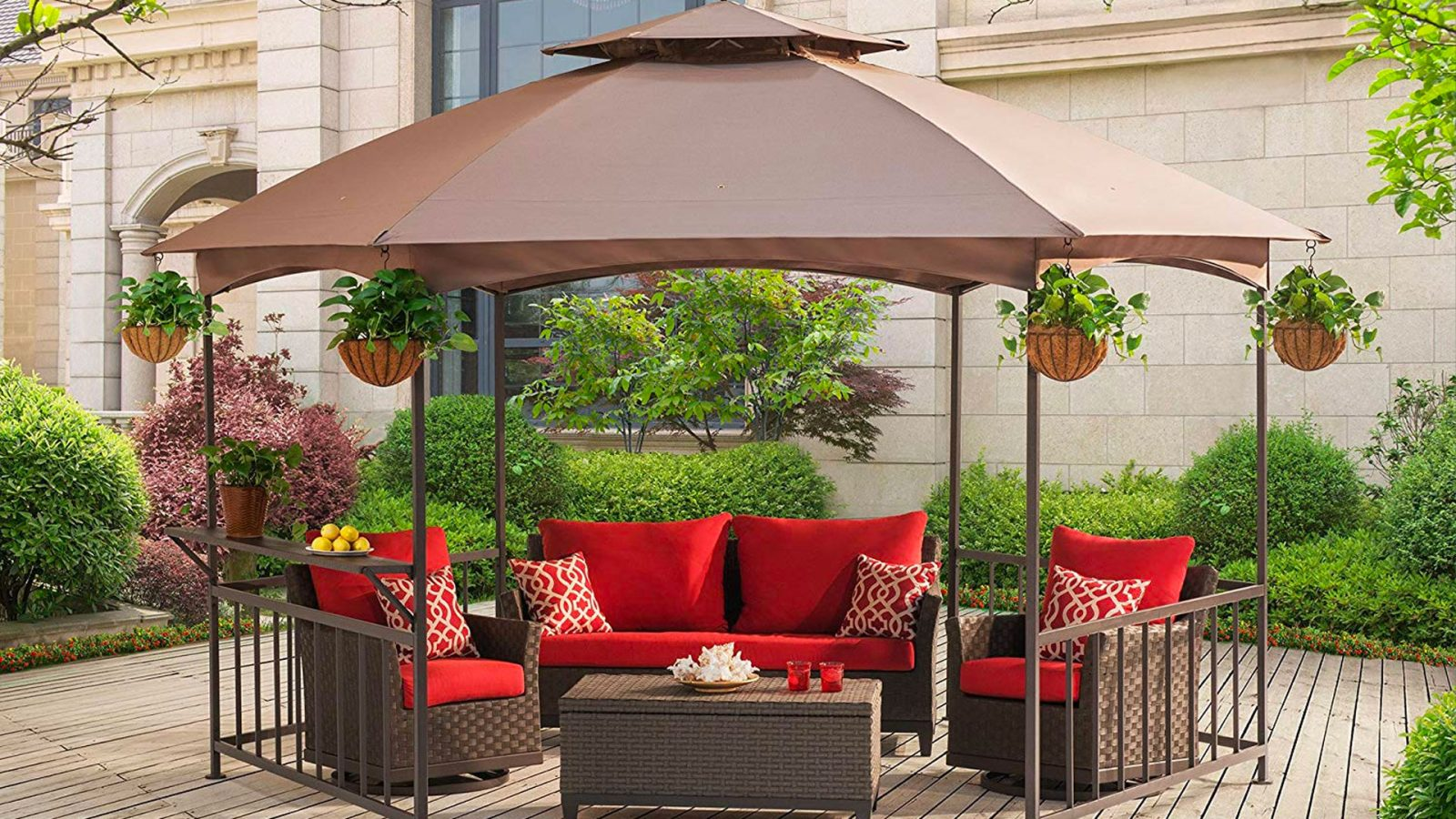 Enjoy being outdoors with this gazebo at $350 (Reg. $500), today only